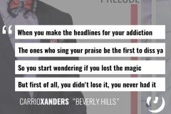 CarrioXanders Quotes - 3 Piece: The Prelude - Beverly Hills track - promo ad