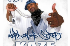 Word On The Street Mixtape - Cover Art - for hiphop artist KAZE from North Carolina, USA