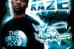 KAZE Block 2 The Basement - Front Music Cover Design - Genre: Hiphop