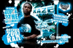 KAZE Block 2 The Basement Flyer Design