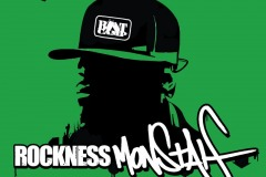 Rockness Monstah graffiti design shirt green