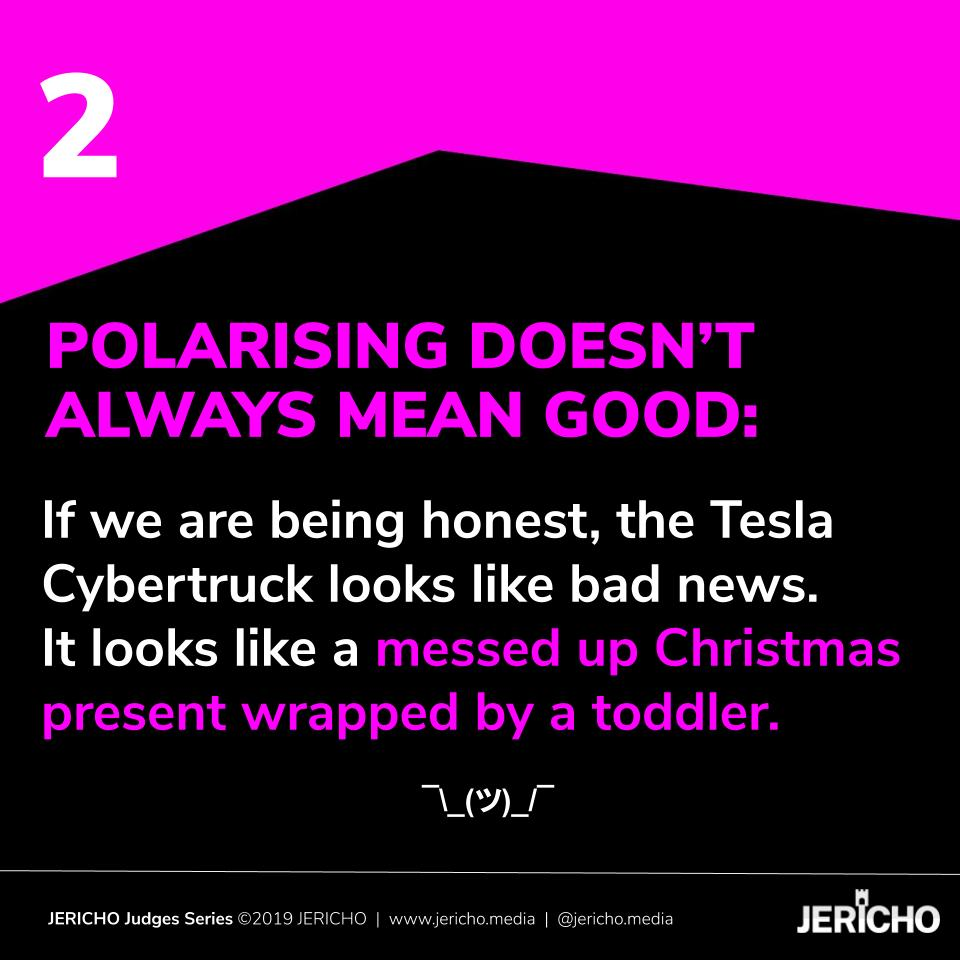 5 Things We Can Learn From The Tesla Cybertruck Rollout - Slide 2 - JERICHO blogpost