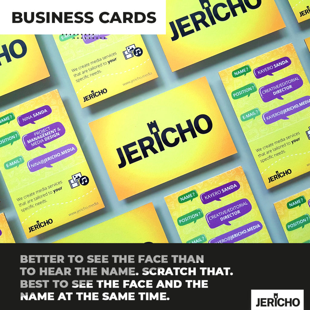Give your brand a facelift with JERICHO - media design - branding - logo design - webdesign - translation - campaigns - product design - voiceovers - sound design - cover art - business cards and more
